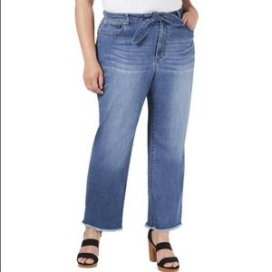 INC High Rise Ankle Tie Front Stretch Jean 28W NWT
